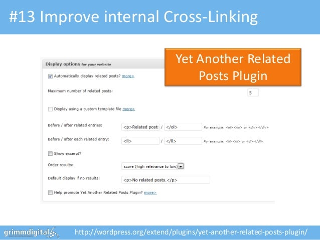 #13 Improve internal Cross-Linking                                     Yet Another Related                                ...