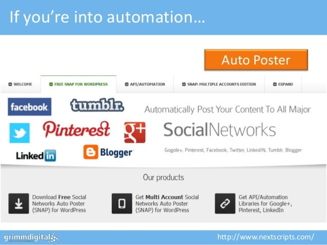 If you're into automation…                              Auto Poster                             http://www.nextscripts.com/