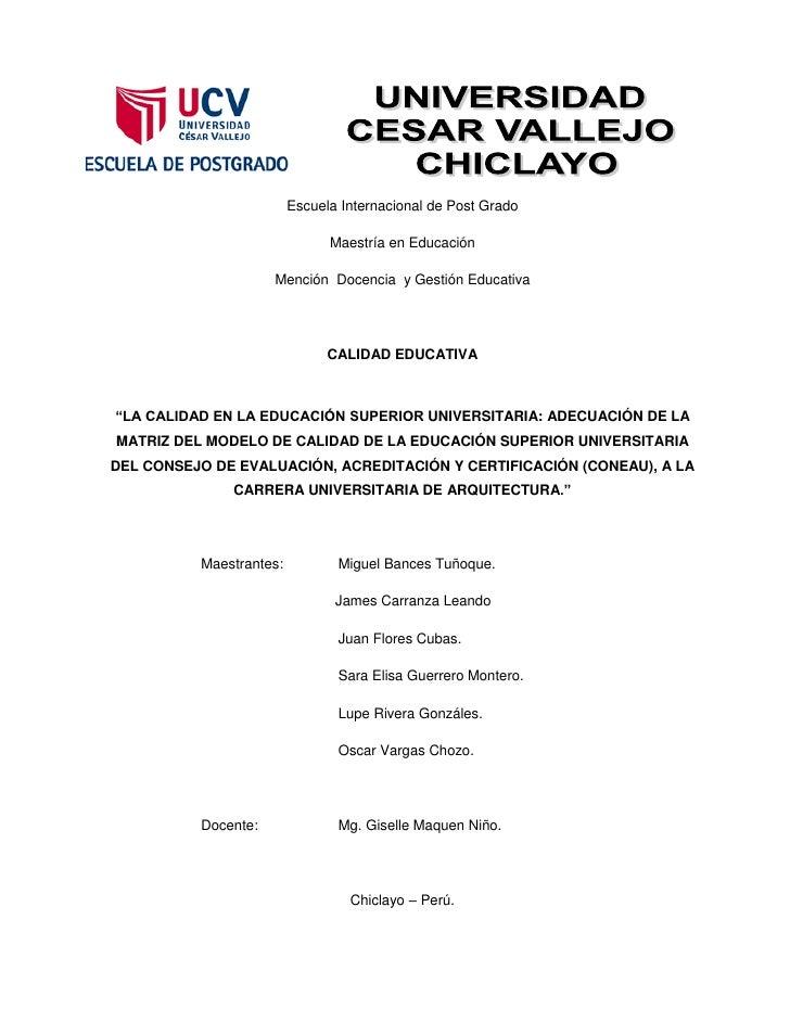 Escuela Internacional de Post Grado                               Maestría en Educación                     Mención Docenc...
