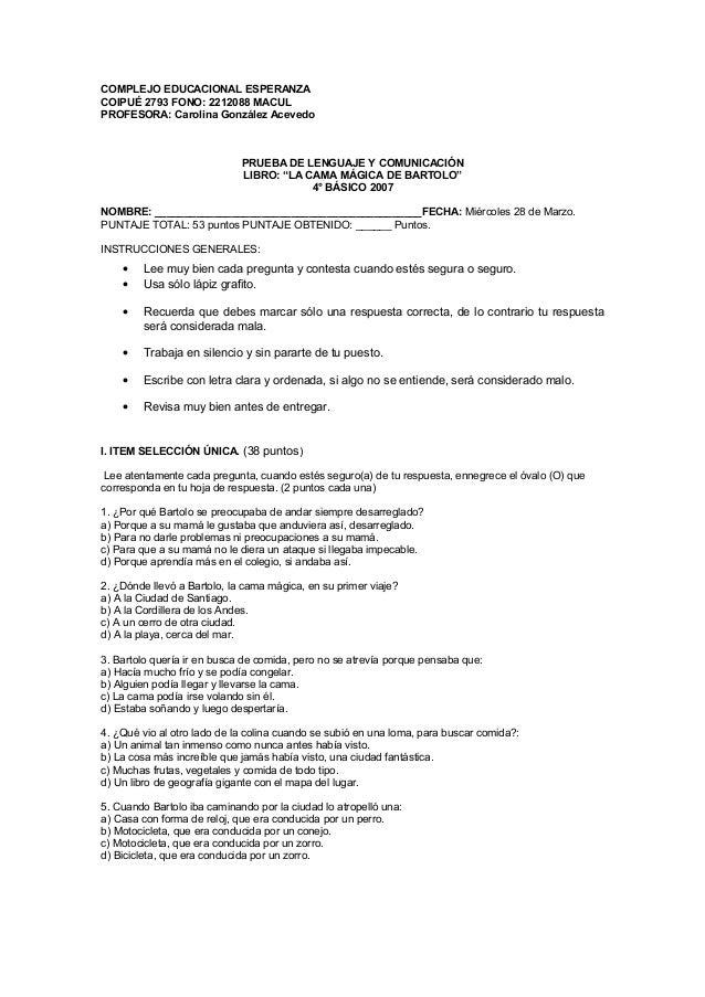 COMPLEJO EDUCACIONAL ESPERANZACOIPUÉ 2793 FONO: 2212088 MACULPROFESORA: Carolina González Acevedo                         ...