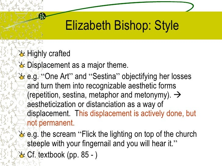 sestina elizabeth bishop thesis
