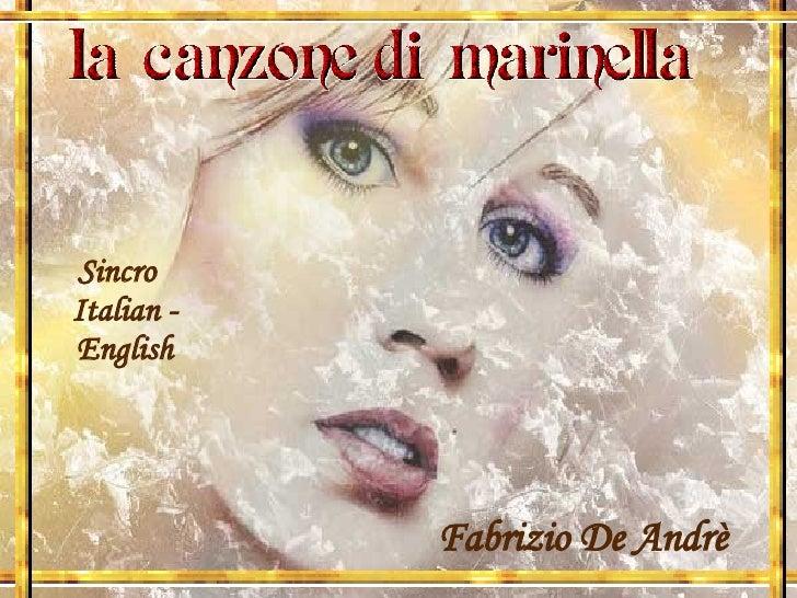 Fabrizio De Andrè Sincro  Italian - English