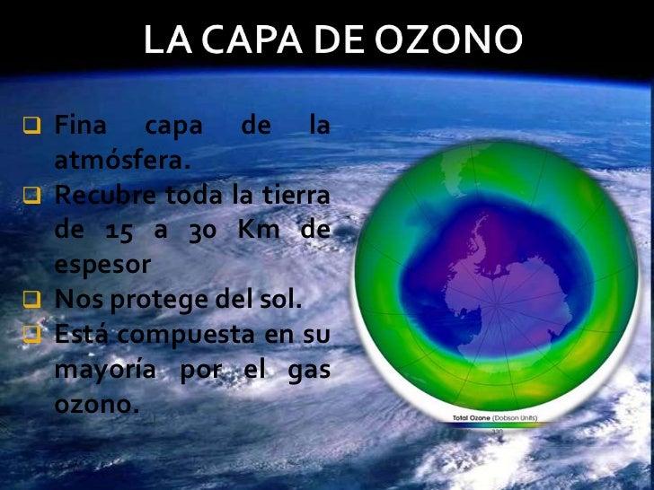Resultado de imagen de El ozono de la atmósfera