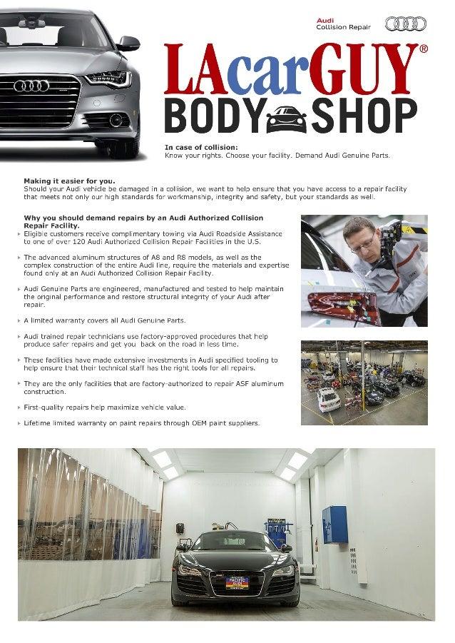 Audi Certified Collision Repair LAcarGUY Body Shop - Audi certified collision repair