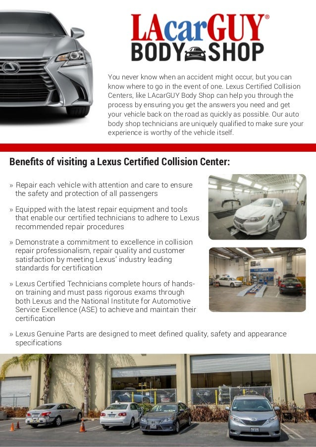 LAcarGUY Body Shop Lexus Certified Collision Center - Lexus collision center