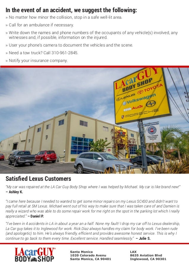 Lacarguy Body Shop Lexus Certified Collision Center