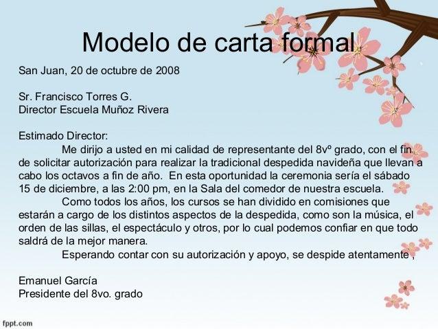 modelos de cartas formales
