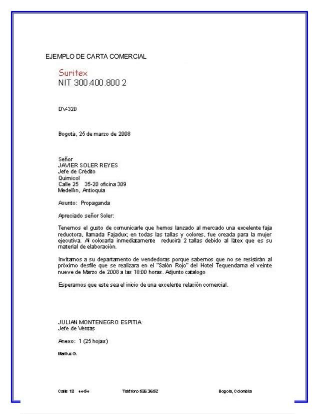 carta de referencia comercial de una empresa a otra