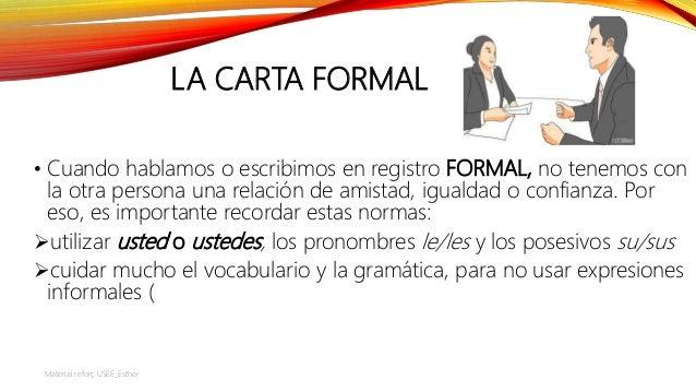 La Carta Formal Y La Carta Informal _material Adaptado