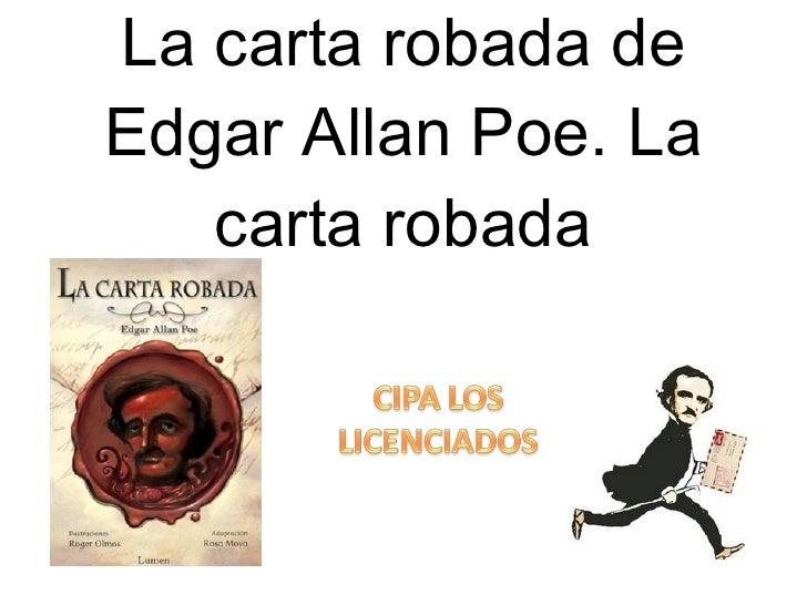 La carta robada de Edgar Allan Poe. La carta robada