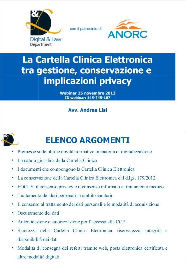ELENCO ARGOMENTI Premesse sulle ultime novità normative in materia di digitalizzazione La natura giuridica della Cartella ...