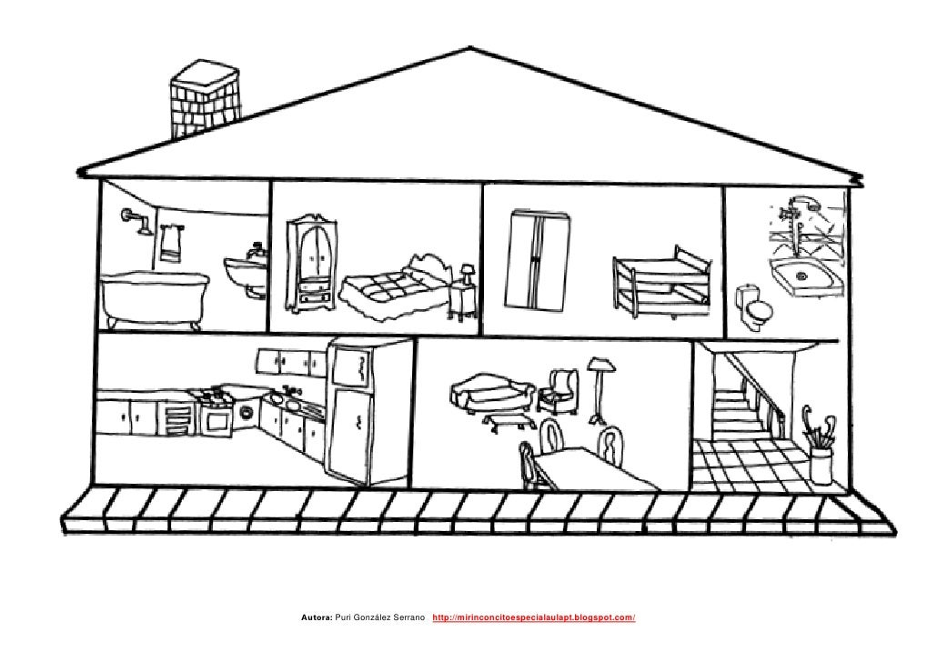 La casa Pequeño librito adaptado de las partes de la casa