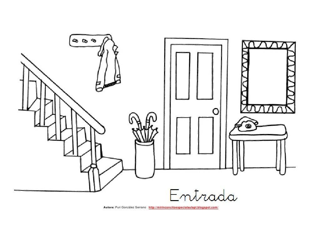 La casa peque o librito adaptado de las partes de la casa for Comedor facil de dibujar