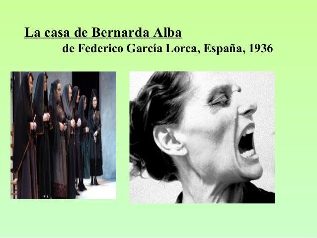 La casa de Bernarda Alba de Federico García Lorca, España, 1936