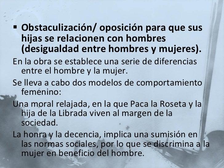 <ul><li>Obstaculización/ oposición para que sus hijas se relacionen con hombres (desigualdad entre hombres y mujeres). </l...