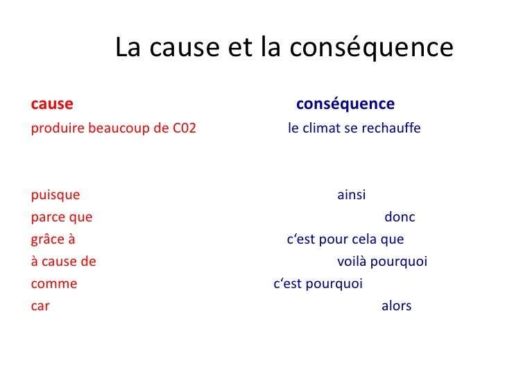 cause et consequence
