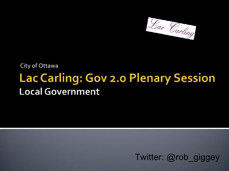 City of Ottawa Twitter: @rob_giggey