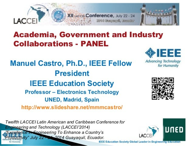 IEEE Education Society Global Leader in Engineering Education Academia, Government and Industry Collaborations - PANEL Twe...