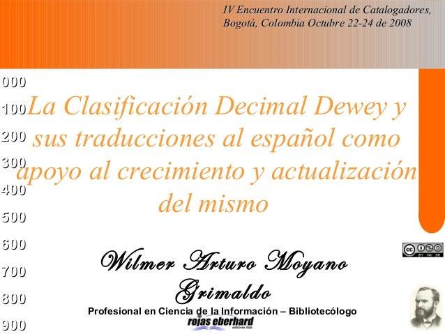 000000 100100 200200 300300 400400 500500 600600 700700 800800 900900 La Clasificación Decimal Dewey y sus traducciones al...