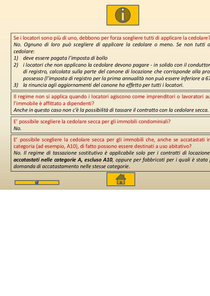 Cedolare secca for Calcola imposta di registro