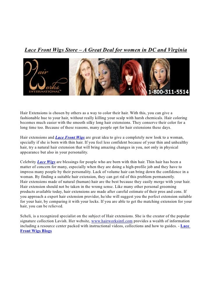 <p><strong>Page 1: </strong>  Lace Front Wigs Store – A Great Deal for women in DC and Virginia     Hair Extensions is cho...