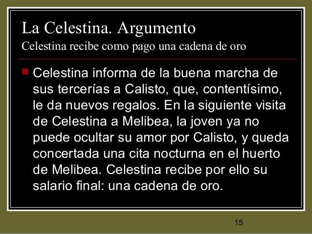 La celestina siglo xv for La celestina argumento