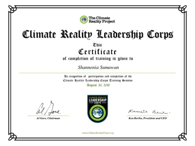 Climate Reality Leadership Certificate