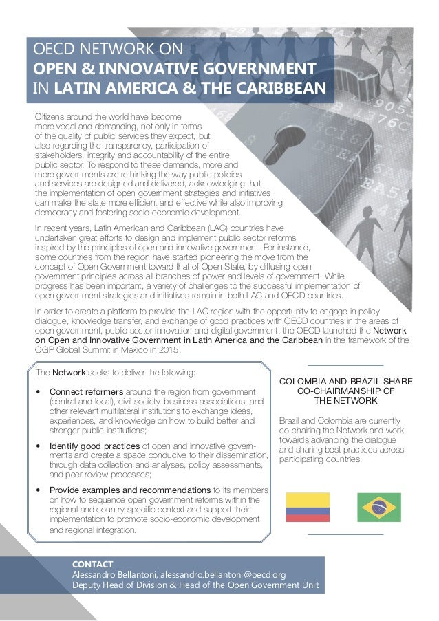OECD NETWORK ON OPEN & INNOVATIVE GOVERNMENT IN LATIN AMERICA & THE CARIBBEAN CONTACT Alessandro Bellantoni, alessandro.be...