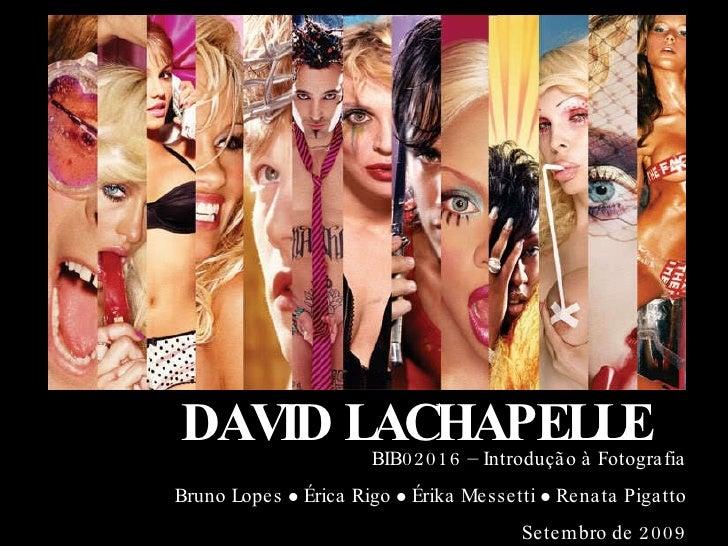 DAVID LACHAPELLE BIB02016 – Introdução à Fotografia Bruno Lopes    Érica Rigo    Érika Messetti    Renata Pigatto Setem...