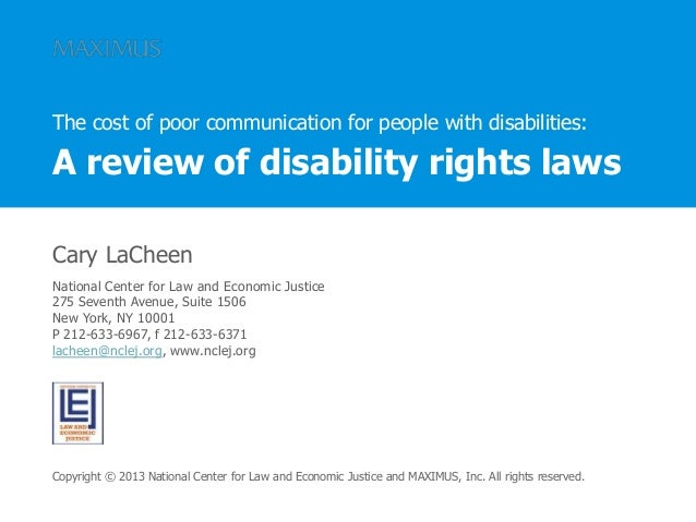 Cary LaCheen National Center for Law and Economic Justice 275 Seventh Avenue, Suite 1506 New York, NY 10001 P 212-633-6967...