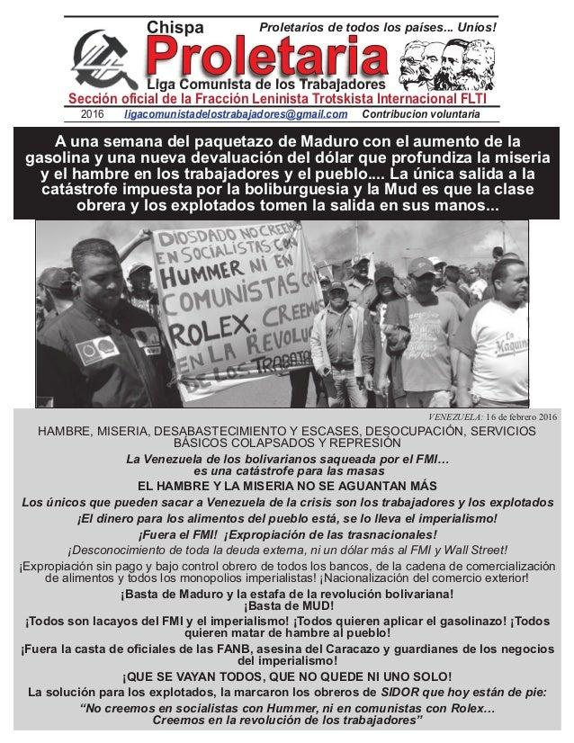 2016 Contribucion voluntarialigacomunistadelostrabajadores@gmail.com Sección oficial de la Fracción Leninista Trotskista I...