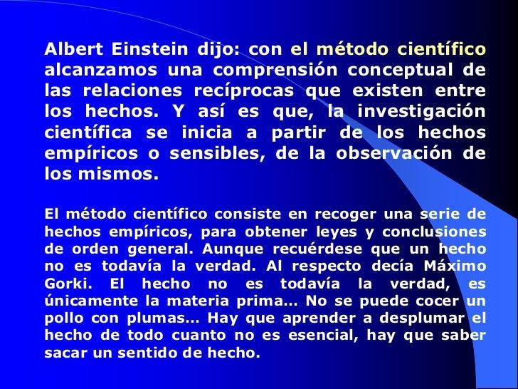 Ciencia y metodo cientifico for En que consiste el metodo cientifico