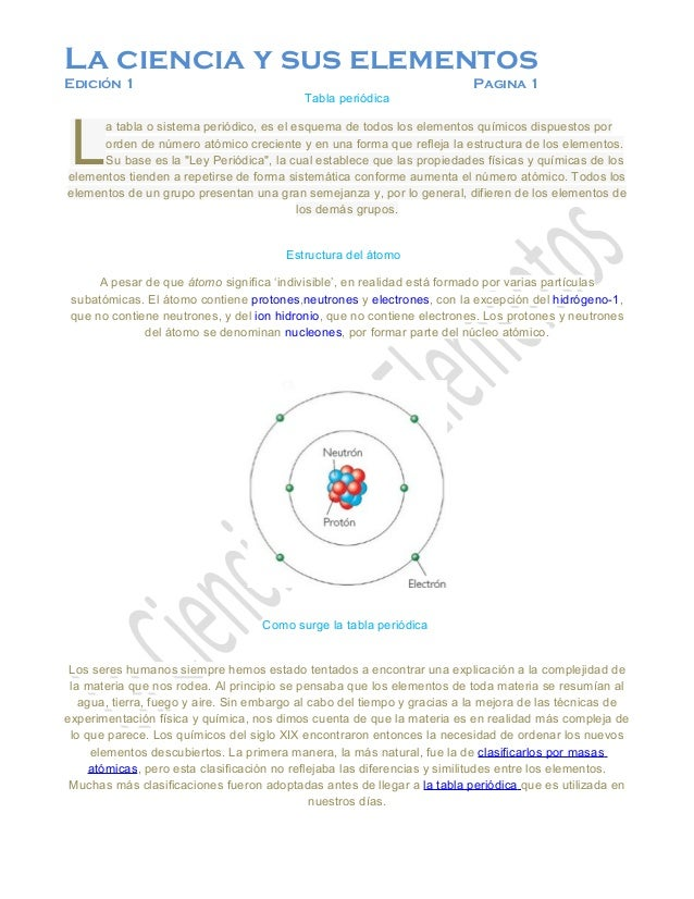 La ciencia y sus elementosEdición 1                                                                Pagina 1               ...