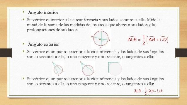 La circunferencia for Exterior tangente y secante