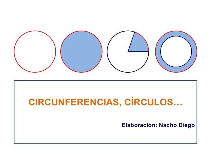 CIRCUNFERENCIAS, CÍRCULOS… Elaboración: Nacho Diego