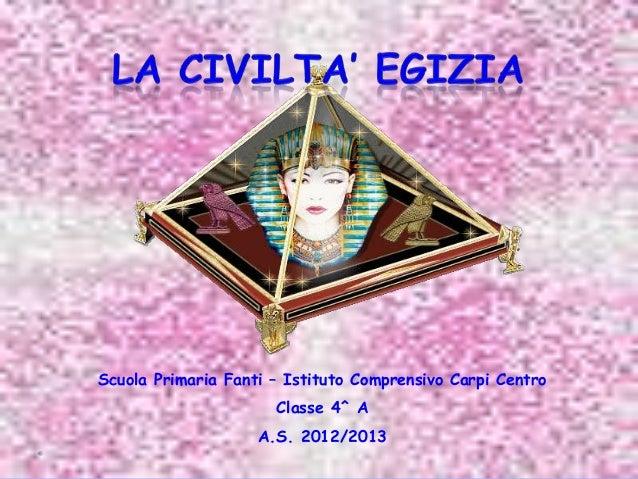 Scuola Primaria Fanti – Istituto Comprensivo Carpi Centro Classe 4^ A A.S. 2012/2013