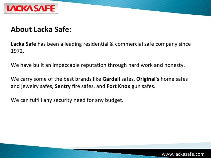 Lacka Safe - High Security Safes New York, New Jersey