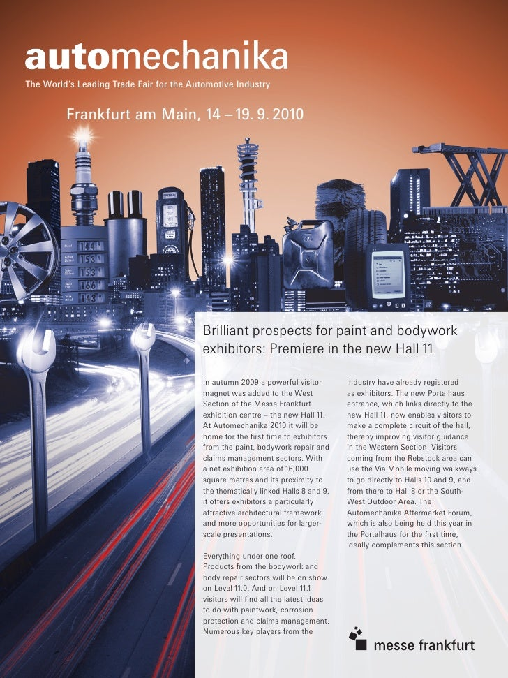 The World's Leading Trade Fair for the Automotive Industry            Frankfurt am Main, 14 – 19. 9. 2010                 ...