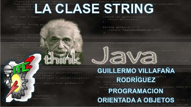 • LA CLASE STRING O STRINGBUFFER ES UNA CLASE NO UN TIPO DE DATO, LO QUE SIGNIFICA QUE SE CREAN OBJETOS DE ESA CLASE CON C...