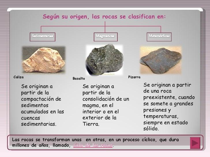 La clasificaci n de las rocas - Tipos de piedras naturales ...