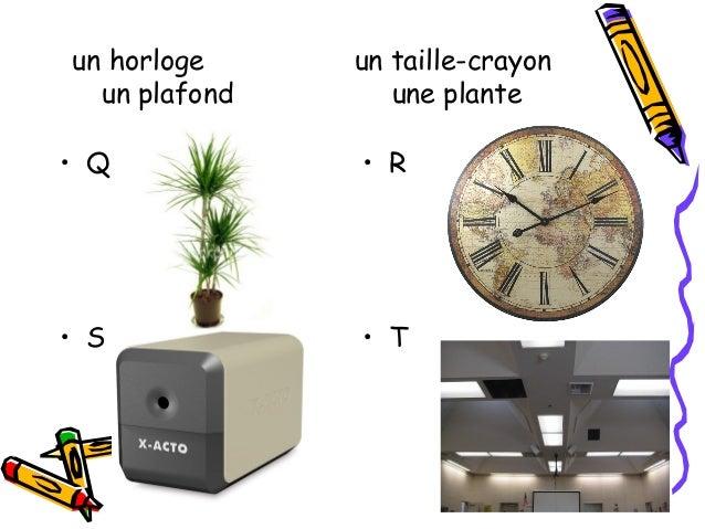 une étagère        une affiche un plancher    une magnétoscope• U                 • V• W                 • X