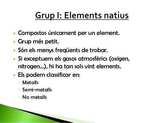 La classificació dels minerals (grups I i II) Slide 3