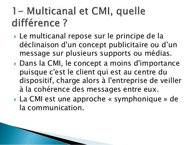 La C.M.I. en 12 questions clés Slide 2