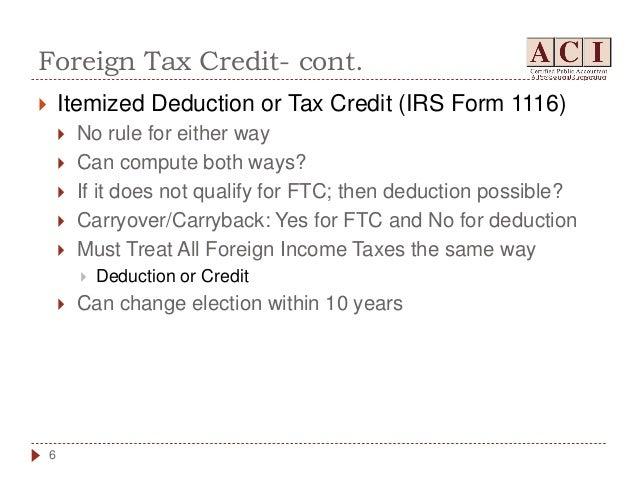 International Taxation Overview Update
