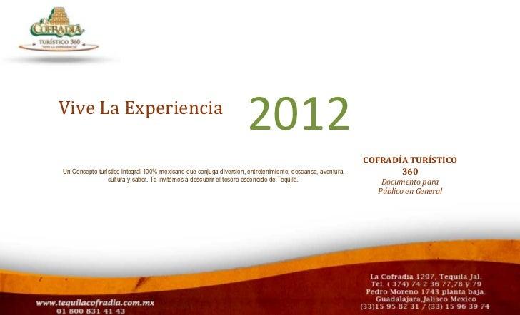 01/Enero 2011Vive La Experiencia                                                                   2012                   ...