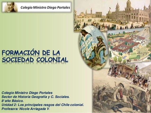 Colegio Ministro Diego Portales Sector de Historia Geografía y C. Sociales. 8°año Básico. Unidad 2: Los principales rasgos...