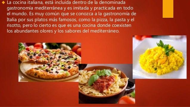 La comida italiana for Comida italiana