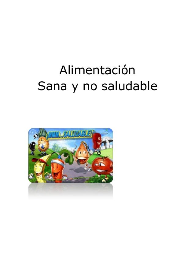 AlimentaciónSana y no saludable