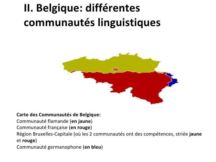 Carte Belgique Communautes Et Regions.La Communaute Linguistique