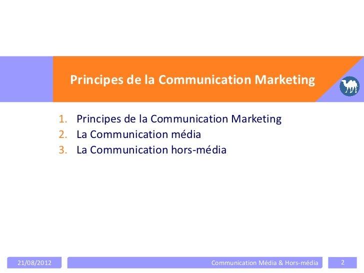 La communication média et hors média Slide 2